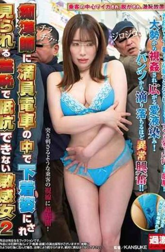 NHDTB-374 Sensitive Woman Who Can Not Resist With Shame Seen In A Trainer Packed With Underwear In A Crowded Train 2
