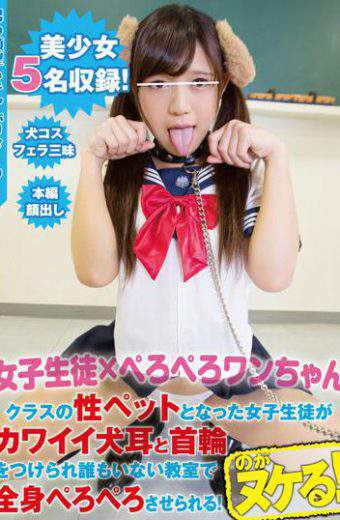 PKPD-012 Girls Student  PERPETERO ONE CHANNEL Female Students Who Became Class Sex Pets Are Girls Wearing Kawaii Dogs Ears And Collars And They Are Made To Lick The Whole Body In The Classroom Where There Is No One!