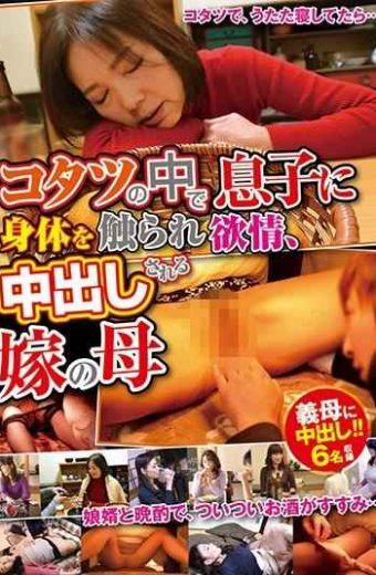 VNDS-3296 My Son Touched My Body In Kotatsu Lusts Mother Of Bride Being Cum Shot